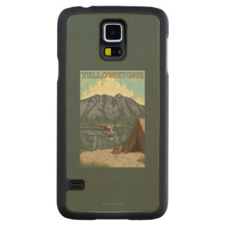 Bush Plane & Fishing - Yellowstone National Carved Maple Galaxy S5 Case