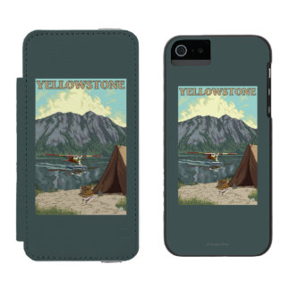 Bush Plane & Fishing - Yellowstone National Incipio Watson™ iPhone 5 Wallet Case