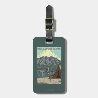 Bush Plane & Fishing - Yellowstone National Luggage Tag