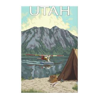 Bush Plane FishingUtah Stretched Canvas Print