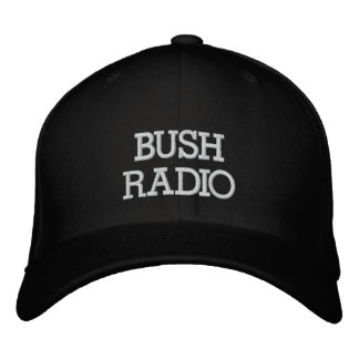 BUSH RADIO EMBROIDERED BASEBALL CAPS