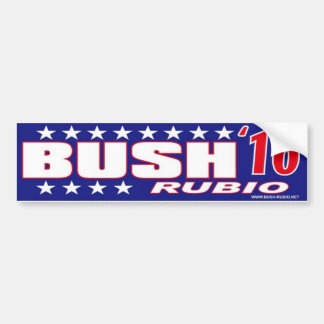 Bush Rubio Bumper Sticker Stars