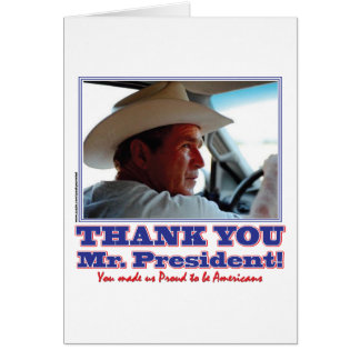 Bush-Thank-You-American Greeting Card