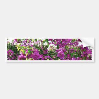 Bush With Purple Flowers Bumper Sticker