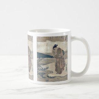 Bushclover at Tamagawa  by Suzuki,Harunobu Coffee Mugs
