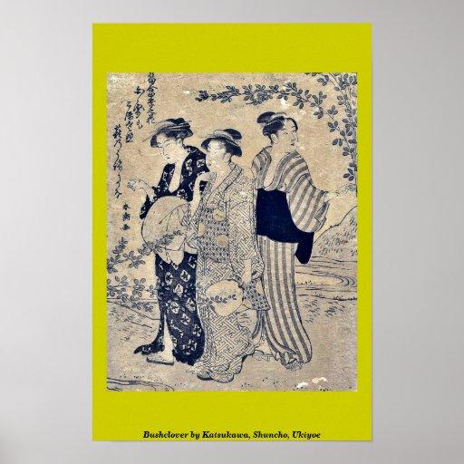Bushclover by Katsukawa, Shuncho, Ukiyoe Poster