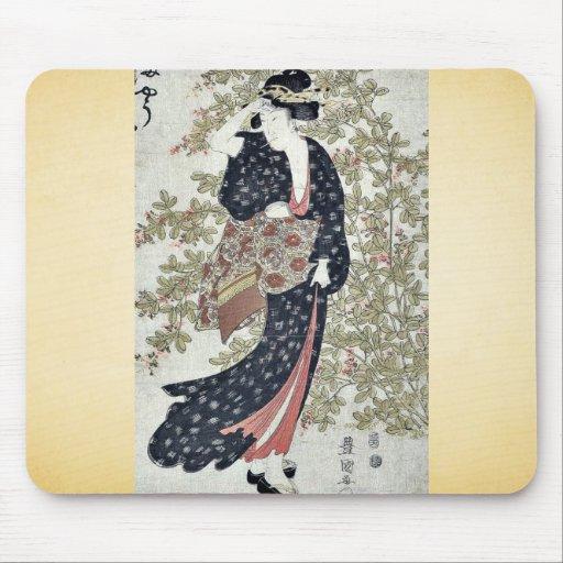 Bushclover by Utagawa, Toyokuni Ukiyo-e. Mouse Pad