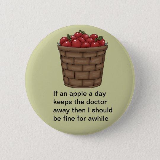 Bushel of Apples Button
