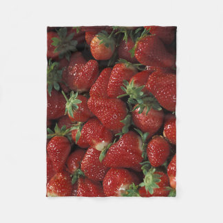 Bushel of Strawberries Fleece Blanket