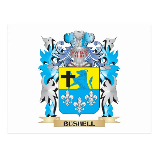 Bushell Coat of Arms Postcards