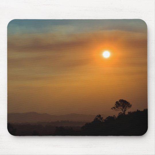 Bushfire Sunset Mouse Mat