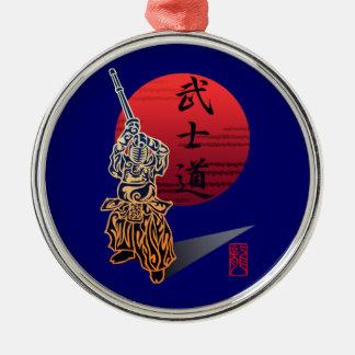 Bushido Silver-Colored Round Decoration