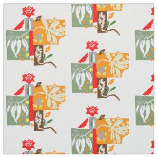 Bushland flora - Fabric