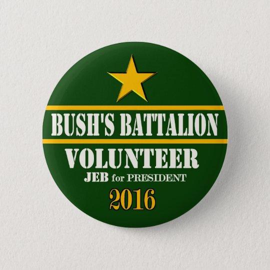 Bush's Battalion: Jeb Bush for President 2016 6 Cm Round Badge