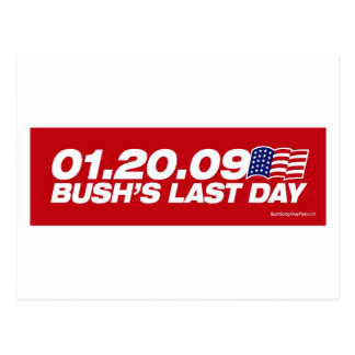 Bush's Last Day Postcard