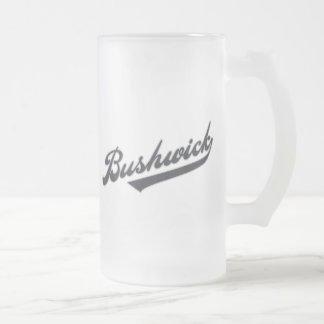 Bushwick Frosted Glass Beer Mug