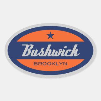 Bushwick Oval Sticker