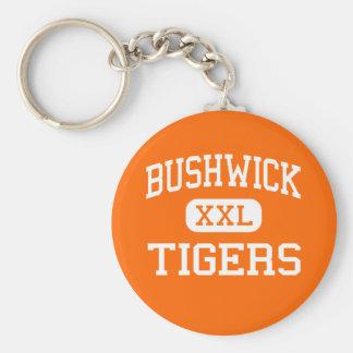 Bushwick - Tigers - High - Brooklyn New York Key Chain