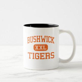 Bushwick - Tigers - High - Brooklyn New York Two-Tone Mug