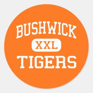 Bushwick - Tigers - High - Brooklyn New York Round Stickers