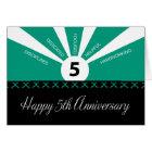 Business 5 Year Employee Anniversary Green, Black Card