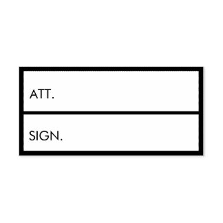 Business Accounting Att and Sign Custom Text Self-inking Stamp