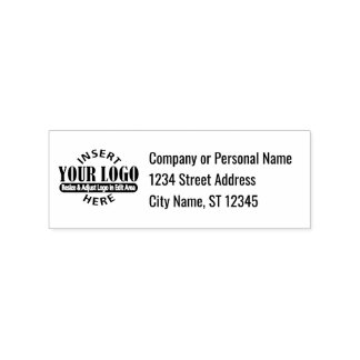 Business Address with Logo Rubber Stamp