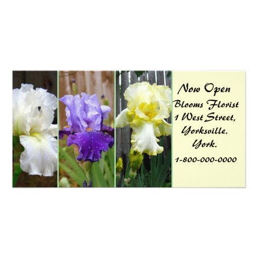 Business Advertising  Floral Picture Card