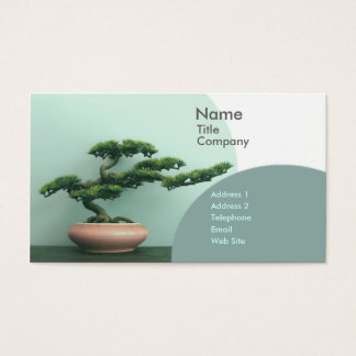 Business/Appointment Card Template-Bonsai Circles