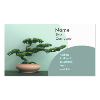 Business/Appointment Card Template-Bonsai Circles Business Card