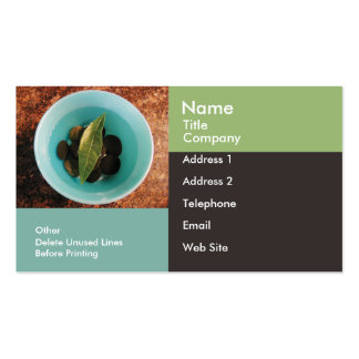 Business/Appointment Card Template-Geometric Bowl Business Cards