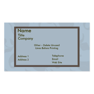 Business/Appointment Card Template-Ornate Vine Business Card Templates