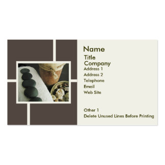 Business/Appointment Card Template-Stones & Candle Business Card Template