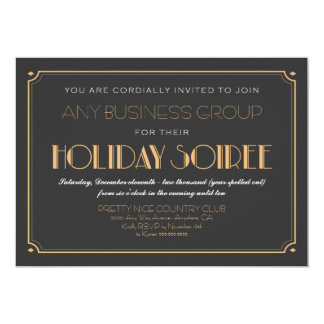 Business Art Deco Soiree Holiday Party Invitations
