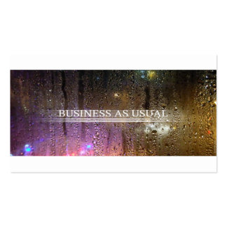 business as usual pack of standard business cards