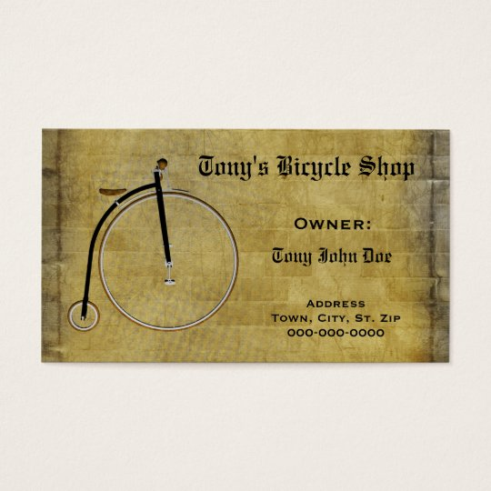 Business Bicycle Repair or Personal Card