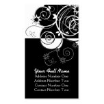 Business Black and white Pack Of Standard Business Cards