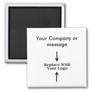 Business Blank Logo Template Square Magnet