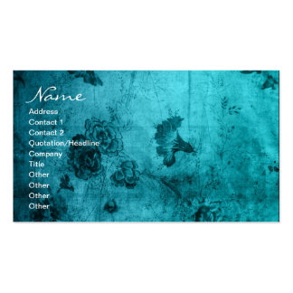Business Blue Vintage Floral Texture Pack Of Standard Business Cards