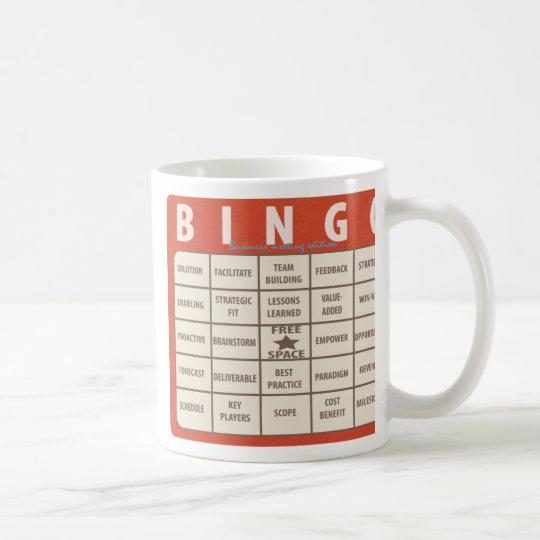 Business Buzzwords Bingo Special Office Mug