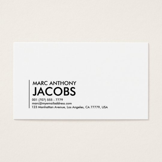Business Card 006 - Bold Plain, Black /