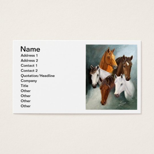 Business Card, 12 lines of writing Business Card