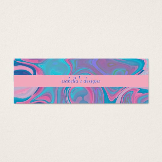 Business Card Abstract Blue Pink Sky Skinny