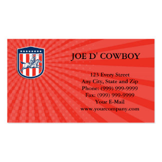Business card American Rodeo Cowboy Horse Lasso Sh