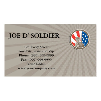 Business card American Soldier Serviceman Bayonet