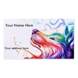 Business Card/appointment card watercolor dog Pack Of Standard Business Cards