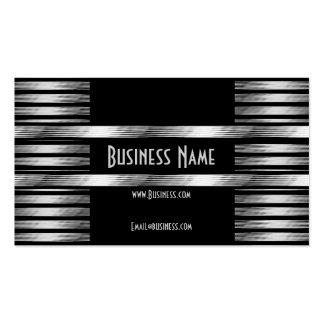 Business Card Art Deco Black Silver Business Card