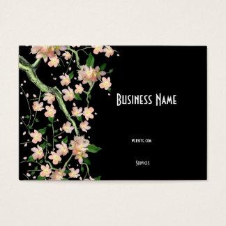 Business Card Asian Japanese Peach Blossom