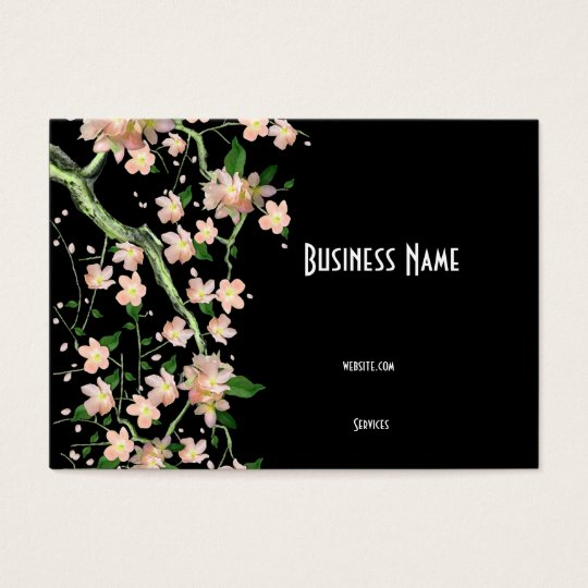 Business Card Asian Japanese Peach Blossom