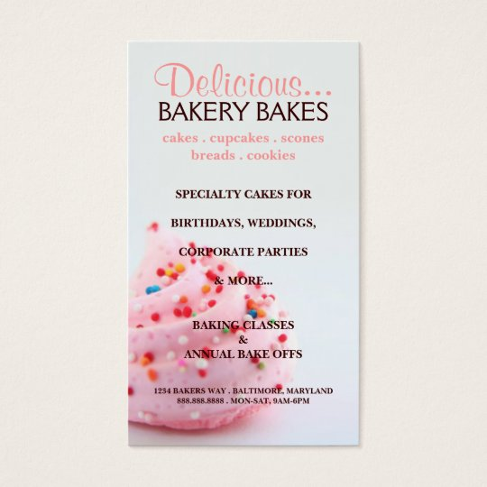 Business Card | Bakery |bluepink